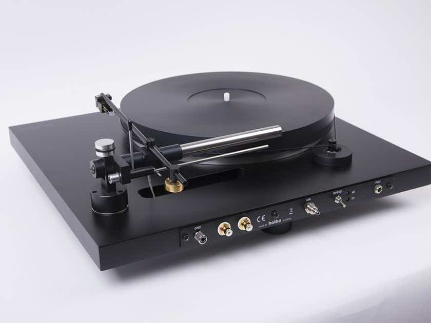 Holbo Airbearing Turntable System with airbearing linear tracking tonearm - NEW REVIEW