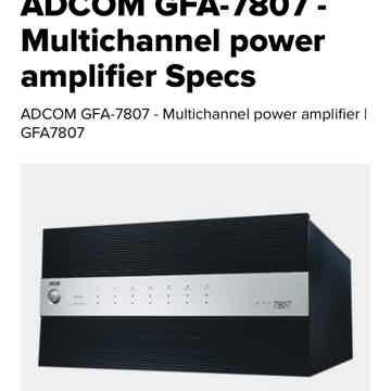 Adcom GFA-7807