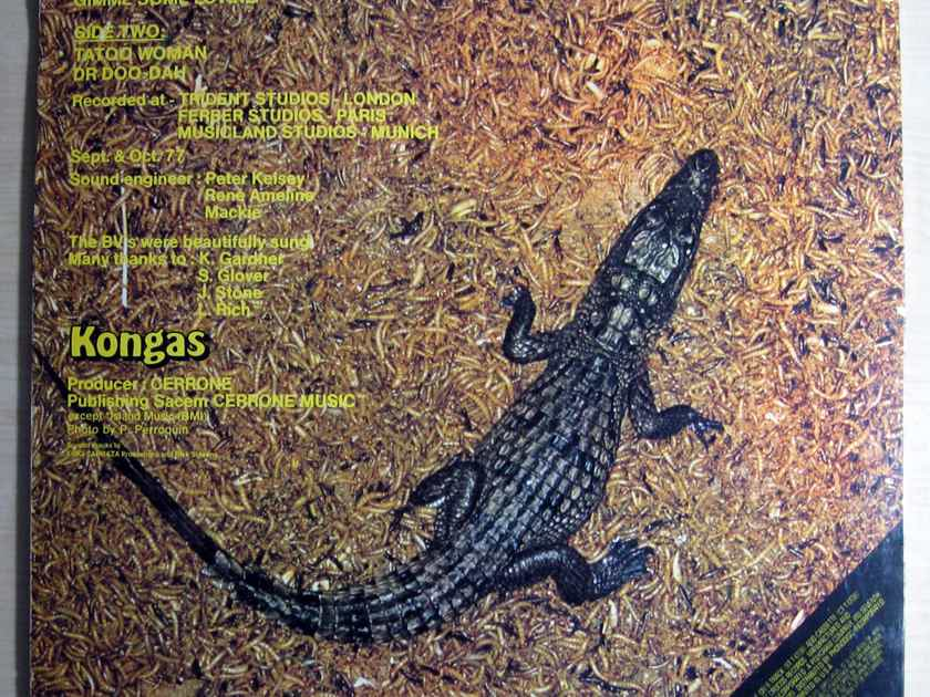 Kongas - Africanism  1977 NM- WHITE LABEL PROMO Vinyl LP Polydor Records PD-1-6138