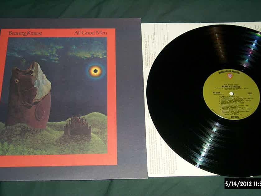 Beaver & Krause - All Good Men Warner Brothers Records Green Olive Label LP Vinyl  NM
