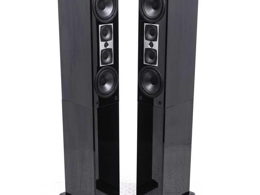 Atlantic Technology 451 LR Bookshelf Speakers; Black Pair w/ Pedestal Stands (20365)