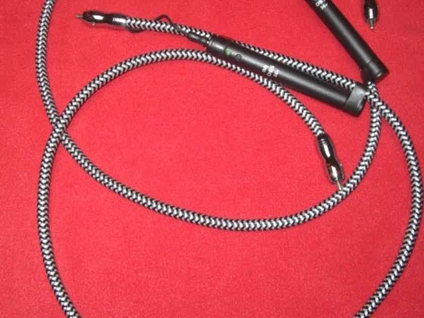 AudioQuest Cheetah Interconnects *2 Meter Pair* 36v DBS W/RCAs