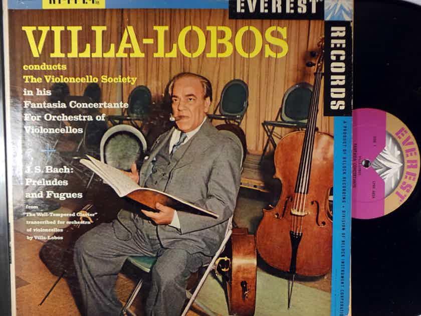 Villa-Lobos Violincello Society Fantasia Concertante, J. S. Bach Preludes & Fugues Everest LDBR-6024
