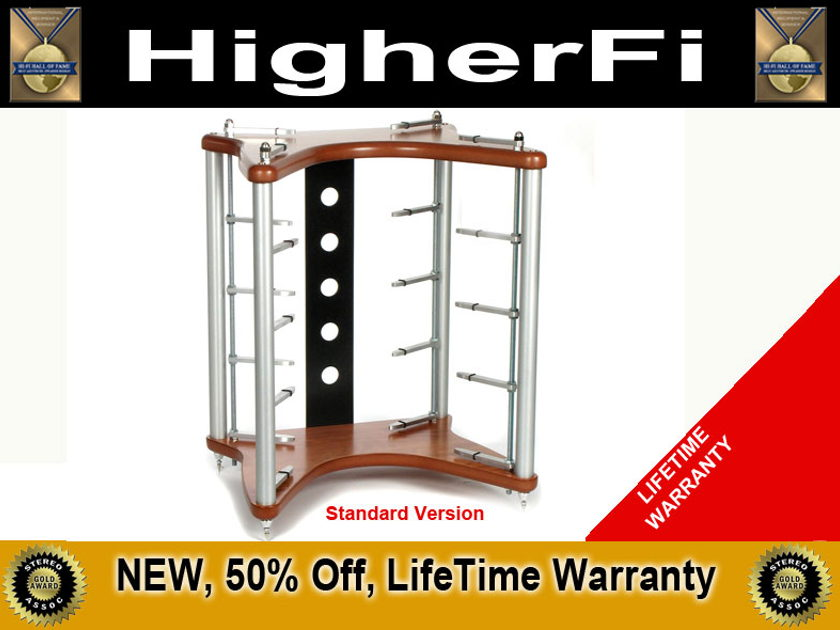 HigherFi F1T NEW 5-Shelf Stand 60% Off, Lifetime Warranty, Trades OK, +5 Solid Shelves