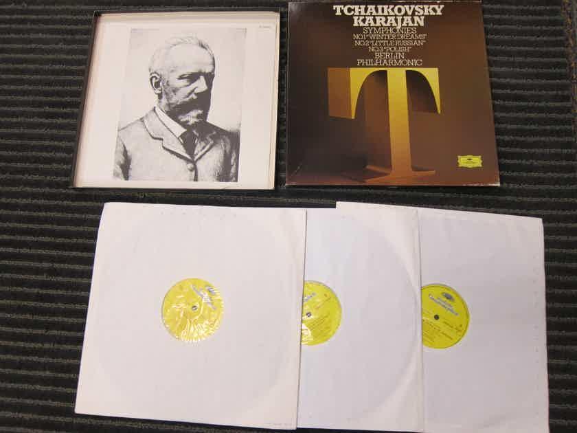 1979 DG R215032 3LP Set - Tchaikovsky Karajan, Symphonies 1/2/3, Berlin Philharmonic, Vinyl NM, Ex Sound Germany