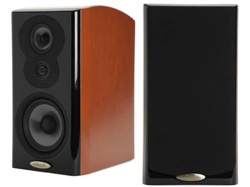 Polk Audio LSiM 703 Bookshelf Speakers; Mt. Vernon Cherry Pair (NEW) (15880)