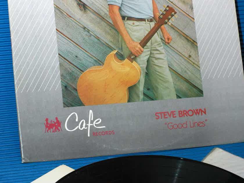 """STEVE BROWN  - """"Good Lines"""" - Cafe / MFSL 1985"""
