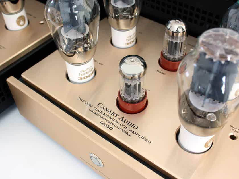 Canary Audio M 350 Mono Block Tube Amplifiers. AMAZING
