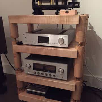 Timbernation:  Tiger Maple Stack  Rack with 4 Round