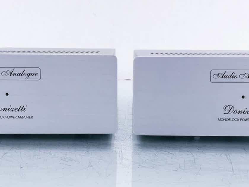 Audio Analogue Donizetti Mono Power Amplifiers Aluminum Pair (15028)