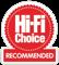 Hi-Fi Choice Recommended Award