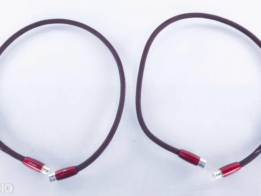 AudioQuest Fire XLR Cables 1m Pair Balanced Interconnects; 72V DBS (15762)