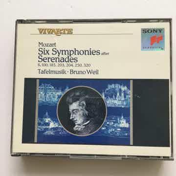 Six symphonies after Serenades Tafelmusik Cd set