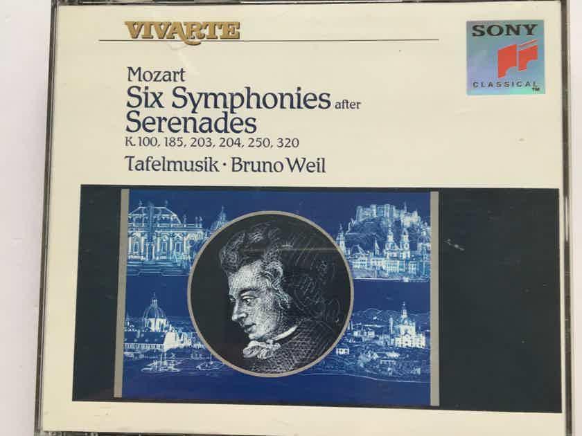 Mozart Bruno Weil  Six symphonies after Serenades Tafelmusik Cd set
