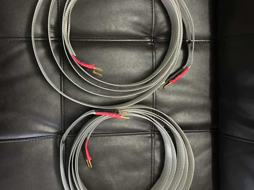 Nordost tyr  speaker cables with original factory bananas 3 Meters