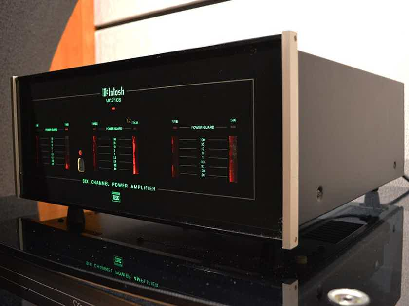 McIntosh MC-7106 6, 4 or 3 channel Bridgeable Amplifier