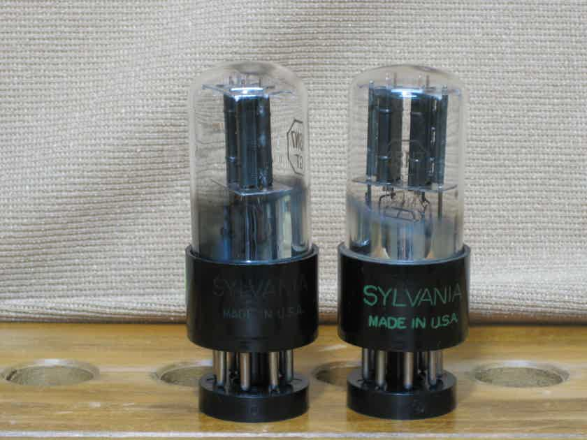 Sylvania 6SN7GT Bad Boy 3 holes plate Matching pair