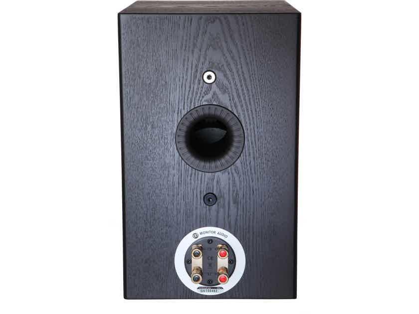 Monitor Audio Silver 1 Bookshelf Speakers Bookshelf Speakers in Black Oak Free Shipping