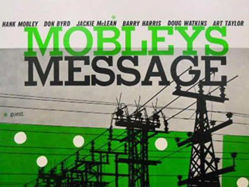 Hank Mobley - Mobley's Message Analogue Productions Prestige  Mono 200 gram vinyl