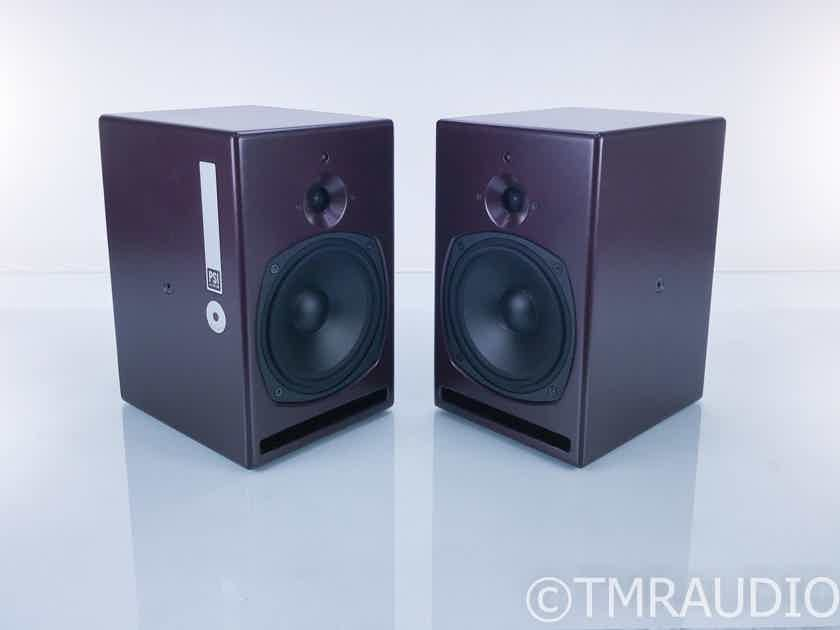 PSI Audio A21-M Active Bookshelf Speakers; Burgundy Pair; A21M (17455)