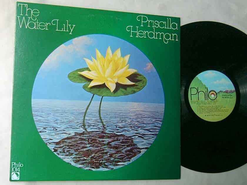 PRISCILLA HERDMAN -  - THE WATER LILY - RARE 1977 AUTOGRAPHED FOLK LP - PHILO