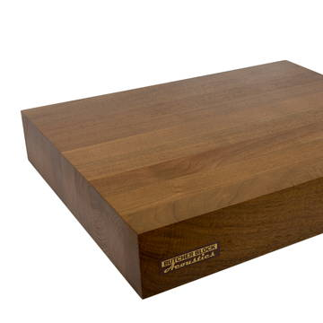 "Butcher Block Acoustics 17"" X 14"" X 3"" Walnut Edge-Grain Audio Platform"