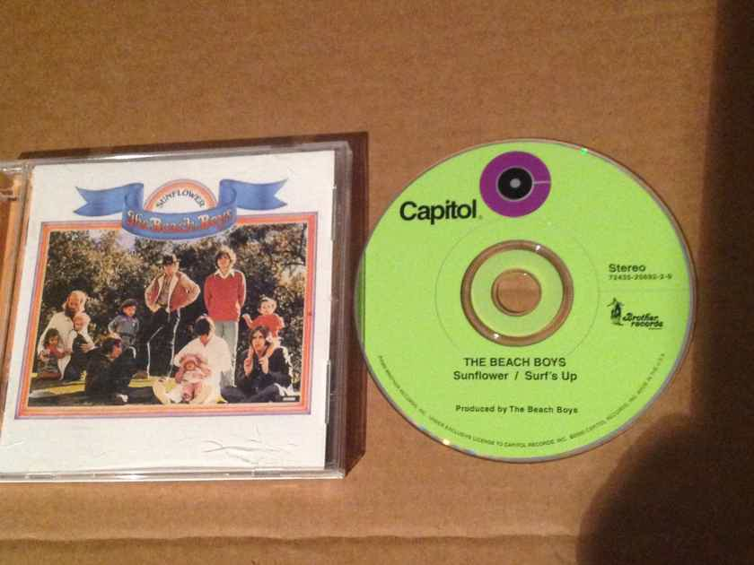The Beach Boys - Sunflower Surf's Up OOP Compact Disc 2 on 1 Brother Records /Capitol Records