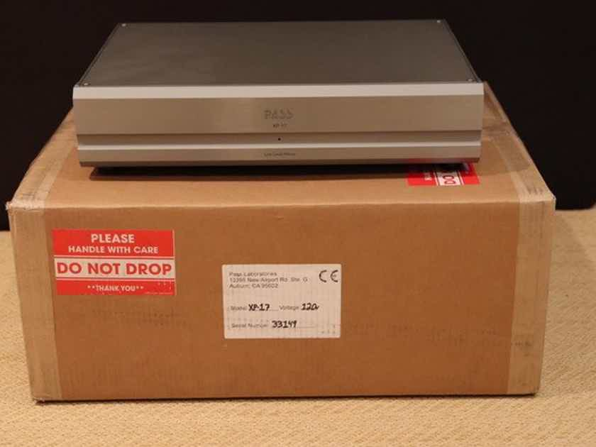 Pass Labs XP-17 phono stage Mint customer trade-in