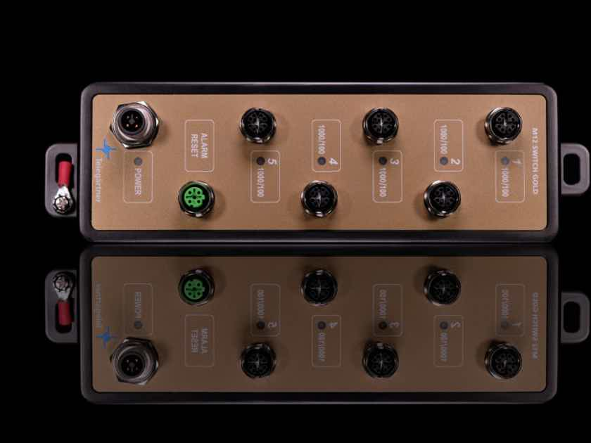 M12 Switch Gold - Audiophile Network Switch