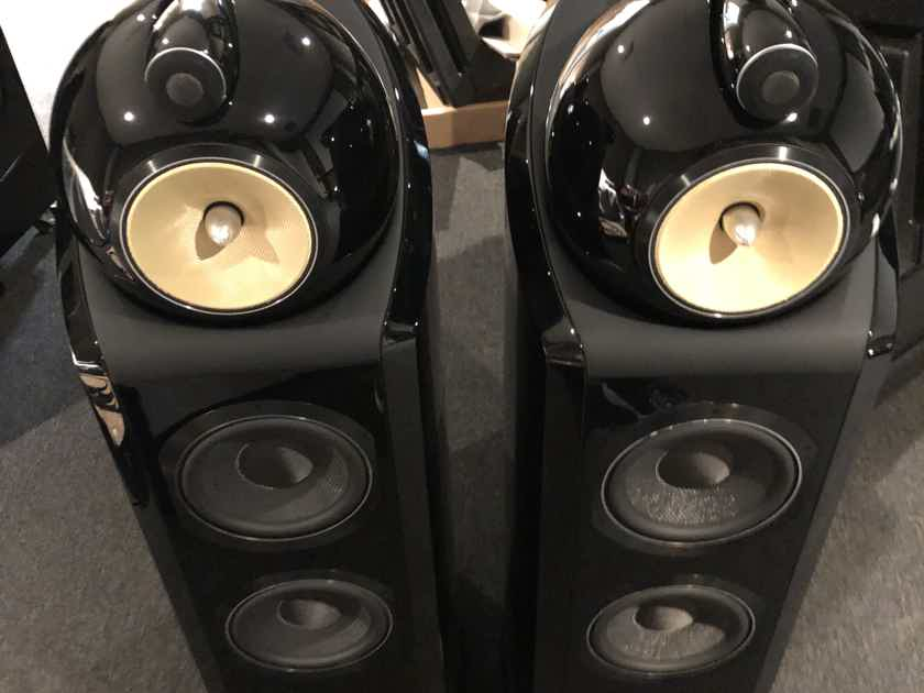 B&W (Bowers & Wilkins) 802D2 Piano black all box and papers