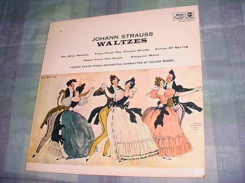 Johann Strauss Waltzes lp record Julius Rudel Music Guild ABC MS-182
