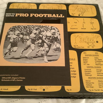 Curt Gowdy NFL Sealed Lp  Curt Gowdy Tells You How To Watch Pro Football
