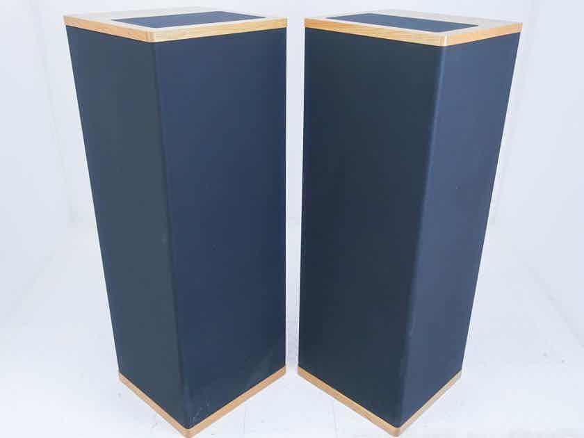 Vandersteen Model 4 Vintage Floorstanding Speakers; Oak Pair w/ WX-4 Crossover (16685)