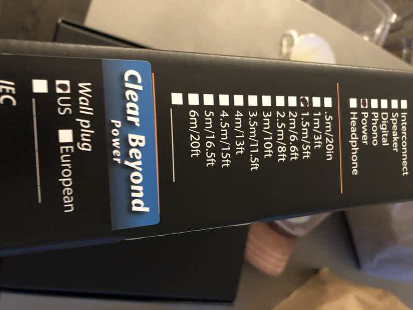 Cardas Clear and beyon power cable 15a Cardas clear and beyond power cable 15a 1.5m