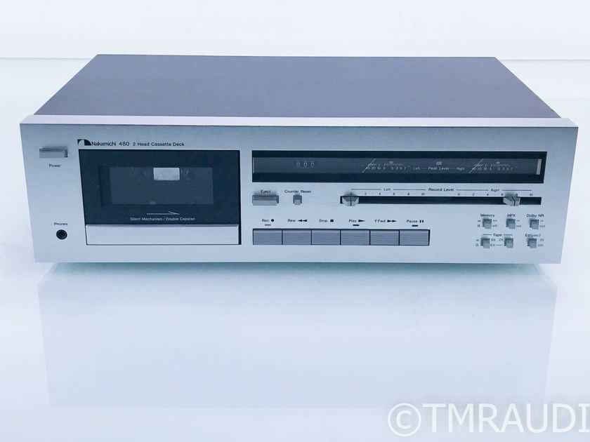 Nakamichi 480 2-Head Cassette Deck; Tape Recorder; AS-IS (Does Not Play Tapes) (17998)