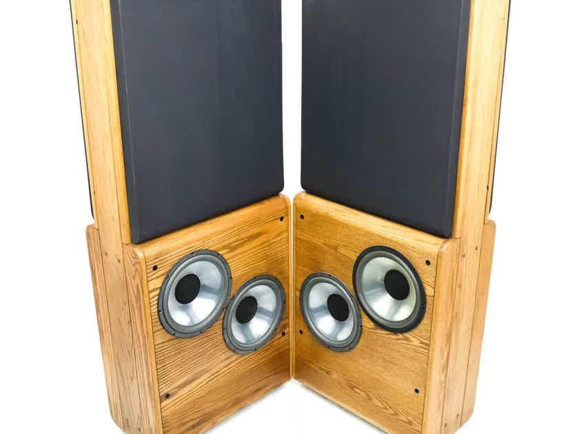 Infinity RS-4.5 Vintage Floorstanding Speakers; Oak Pair; RS4-5; Restored - Rare (26797)