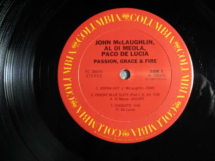 John McLaughlin, Al Di Meola, Paco De Lucia - Passion, Grace & Fire - STERLING Mastered 1983 Columbia FC 38645