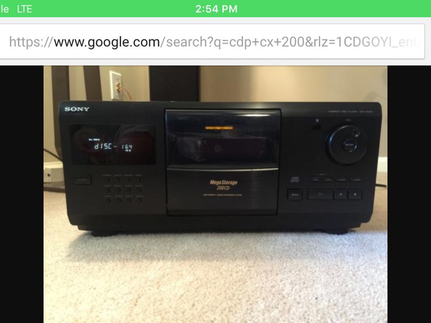 Sony  Cdp cx 200