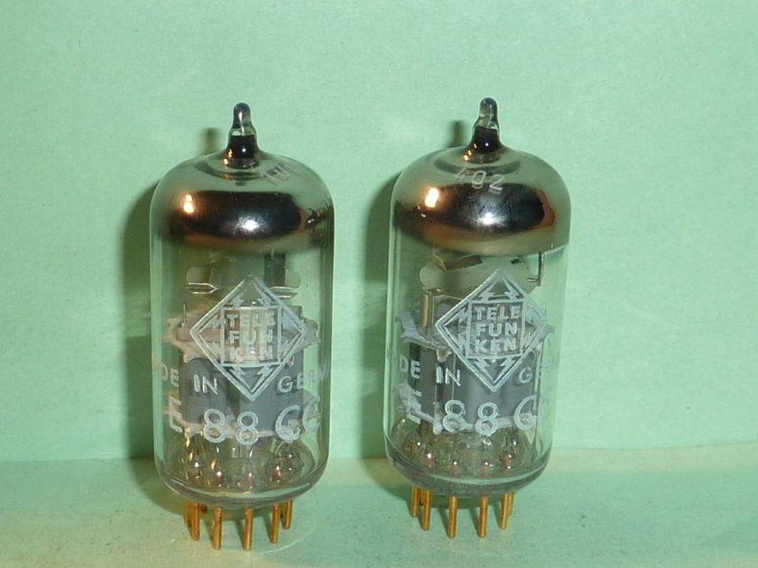 Telefunken E88CC 6922 6DJ8 Tubes, Matched Pair, Tested, NOS, NIB