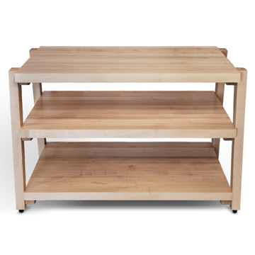 "Butcher Block Acoustics rigidrack™ 48"" X 18"" - 3 Shelf - Maple Shelves - Maple Legs"