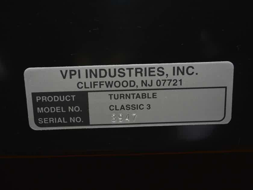 VPI Industries Classic 3 -- Excellent Condition (see pics!)