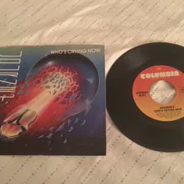Journey 45 With Picture Sleeve  Who's Crying Now