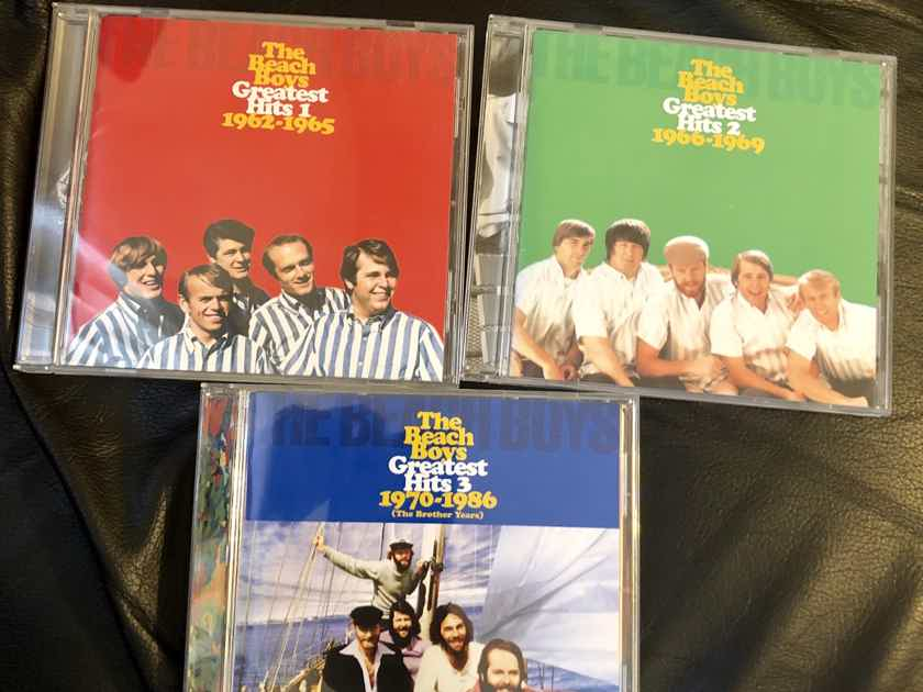 The Beach Boys Greatest Hits 1, 2 and 3 (TOCP-53634, TOCP-53635 and TOCP-53636)