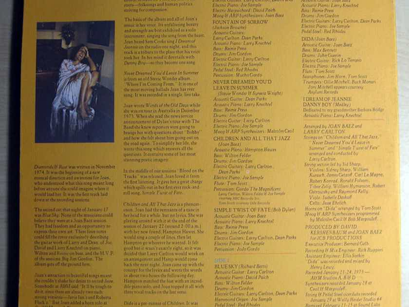 Joan Baez - Diamonds & Rust - 1975 A&M Records SP-4527