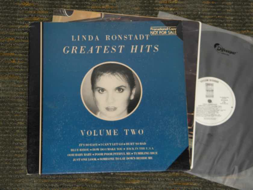 "Linda Ronstadt - ""Greatest Hits VOL TWO"" ASYLUM 5E -516 W L Promo w/gold promo stamp"
