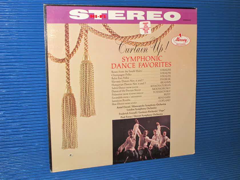 """CURTAIN UP! SYMPHONIC DANCE FAVORITES""   - Works by Strauss, Brahms, Bizet,   Tchaikovsky, etc - Mercury Living Presence 1962 SEALED!"