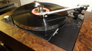Thorens TD 150 Carbon top plate added