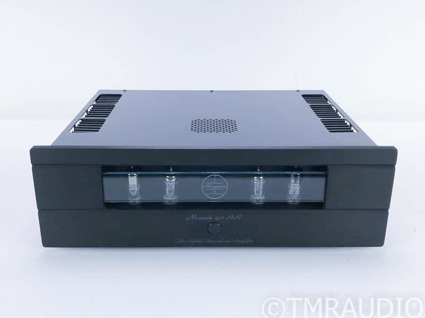 Moscode 401 HR Stereo Tube Hybrid Power Amplifier Upgraded Caps / Resistors (16589)