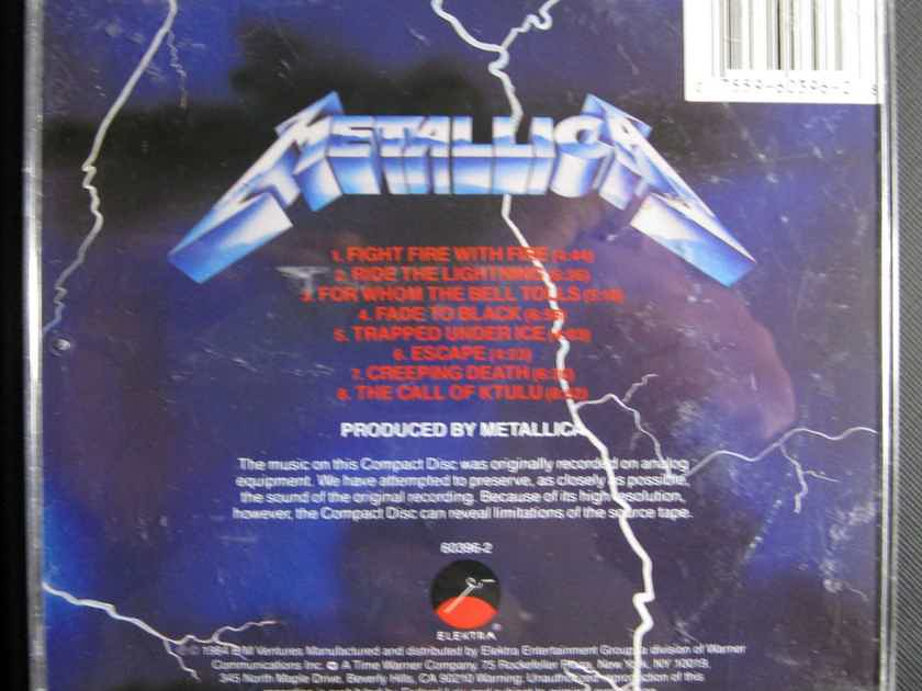 Metallica - Ride The Lightning - Remastered Elektra 9 60396-2