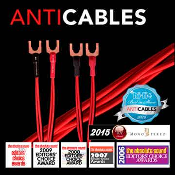 "ANTICABLES Level 3 ""Reference Series"" 8 Foot Speaker wires"